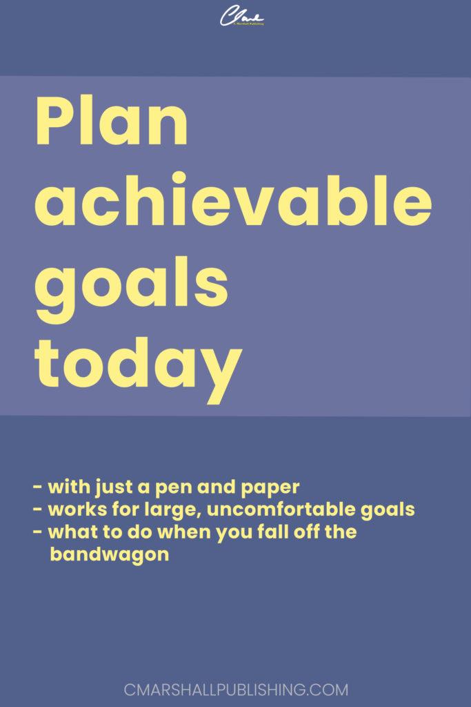 Plan achievable goals Pin